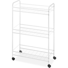 Whitmor 3-Tier Household Rolling Cart