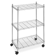 Whitmor Supreme 3-Tier Rolling Cart