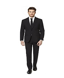 OppoSuits Men's Black Knight Solid Suit