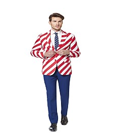 OppoSuits Men's United Stripes Americana Suit