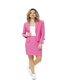 OppoSuits Women's Ms. Pink Solid Suit