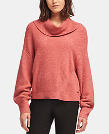 DKNY Cowlneck Ribbed Knit Sweater, Created for Macy's