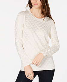 MICHAEL Michael Kors Metallic-Print Sweater