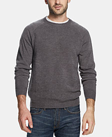 Weatherproof Vintage Men's Soft Touch Textured Raglan-Sleeve Sweater