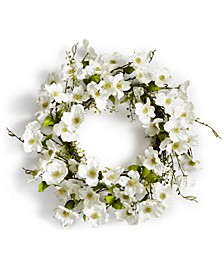 Spring Dogwood Artificial Wreath, Created for Macy's