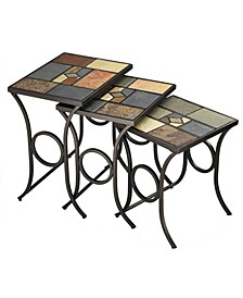 Pompeii Set of 3 Nesting Tables
