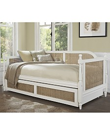 Melanie Cane Daybed with Trundle