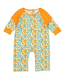 Masala Baby Baby Girl's Organic Cotton Doublesleeve One Piece Spotted