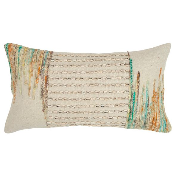 "Rizzy Home 14"" x 26"" Abstract Design Pillow Down Filled"