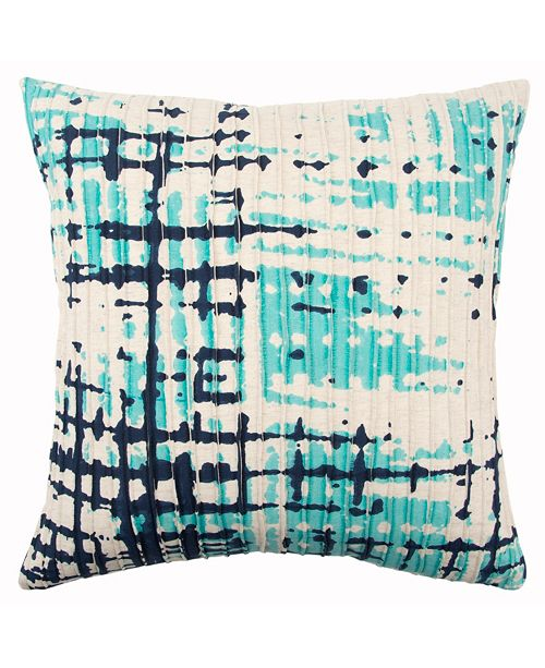"""Rizzy Home 20"""" x 20"""" Abstract Design Pillow Down Filled"""