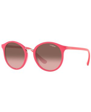 VOGUE Eyewear Sunglasses, Vo5166S 51 in Top Fuxia/Transparent Fuxia/ Violet Gradient Brown Mirror Green