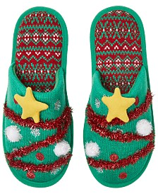 Dearfoams Festive Closed-Toe Scuff Slippers, Online Only