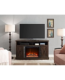 Ameriwood Home Zane Electric Fireplace Tv Stand For Tvs Up To 60 Inches