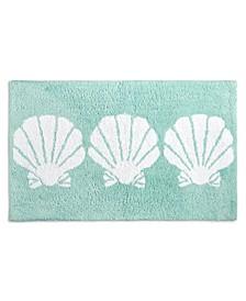 "CLOSEOUT! Seashells 21"" x 34"" Bath Rug, Created for Macy's"
