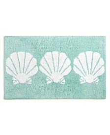 "Martha Stewart Collection Seashells 21"" x 34"" Bath Rug, Created for Macy's"