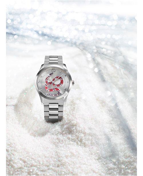 d343e96670e ... Gucci Men s Swiss G-Timeless Stainless Steel Bracelet Watch 38mm ...