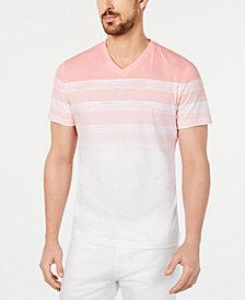 Alfani Men's Striped V-Neck T-Shirt, Created for Macy's