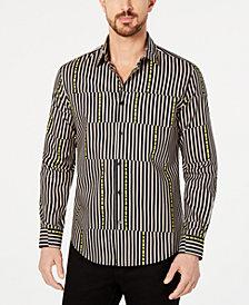 Alfani Men's Asymmetrical Striped Shirt, Created for Macy's