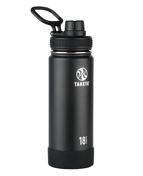 Takeya USA Corporation Takeya Actives 18oz Insulated Stainless Steel Water Bottle with Insulated Spout Lid