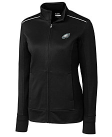 Cutter & Buck Women's Philadelphia Eagles WeatherTec Ridge Full-Zip Jacket