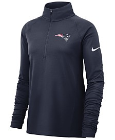 Nike Women's New England Patriots Half-Zip Core Element Pullover