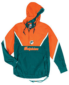 Mitchell & Ness Men's Miami Dolphins Half-Zip Anorak Jacket