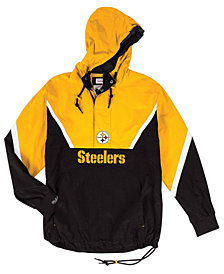 Mitchell & Ness Men's Pittsburgh Steelers Half-Zip Anorak Jacket