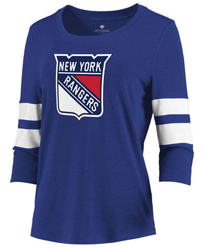 Majestic Women's New York Rangers Let Loose Raglan T-Shirt