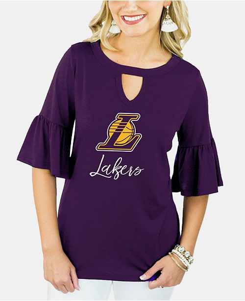 Gameday Couture Women's Los Angeles Lakers Ruffle T-Shirt