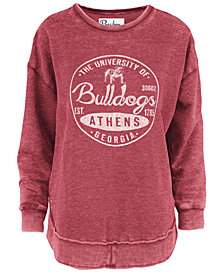 Pressbox Women's Georgia Bulldogs Vintage Wash Sweatshirt