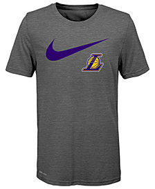 Nike Los Angeles Lakers Swoosh Team T-Shirt 2018, Big Boys (8-20)