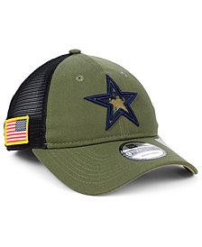 New Era Dallas Cowboys NFL Camo Service Patch 9TWENTY Trucker Cap