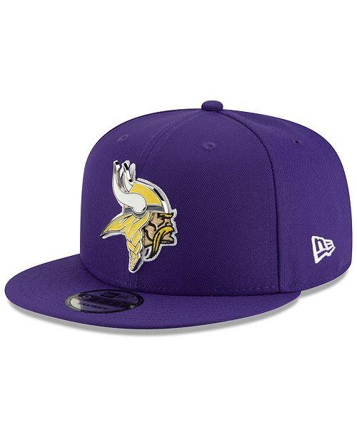 New Era Minnesota Vikings Metal Thread 9FIFTY Snapback Cap - Sports ... 4d14d5c47