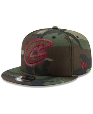 New Era Indiana Pacers 9FIFTY Overspray Snapback Cap Adjustable camo hat