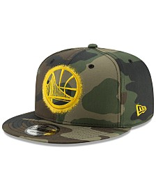 New Era Golden State Warriors Overspray 9FIFTY Snapback Cap
