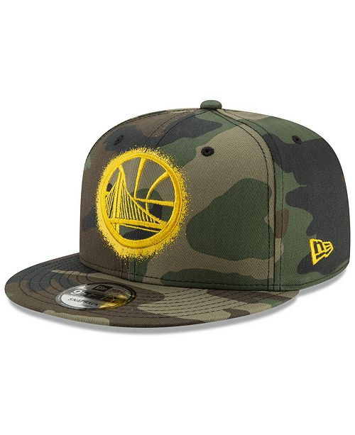 ed2d5bb57b1 New Era Golden State Warriors Overspray 9FIFTY Snapback Cap - Sports ...