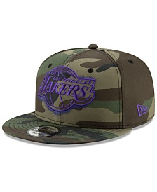 New Era Los Angeles Lakers Overspray 9FIFTY Snapback Cap