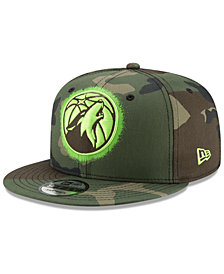 New Era Minnesota Timberwolves Overspray 9FIFTY Snapback Cap
