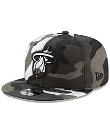 New Era Miami Heat Overspray 9FIFTY Snapback Cap