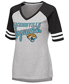 Women's Jacksonville Jaguars Goal Line Raglan T-Shirt