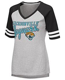 G-III Sports Women's Jacksonville Jaguars Goal Line Raglan T-Shirt