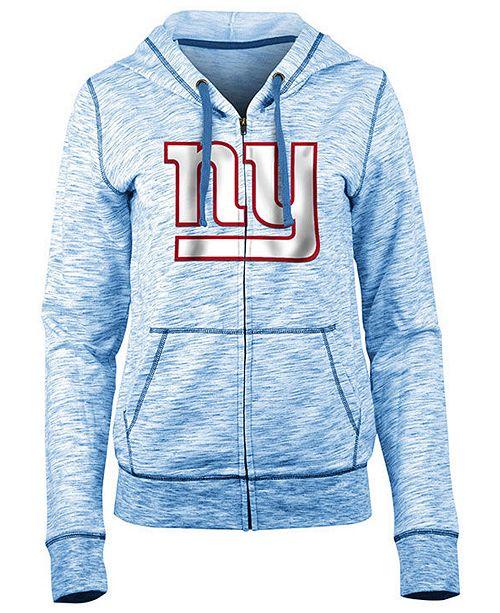 5th & Ocean Women's New York Giants Space Dye Full-Zip Hoodie