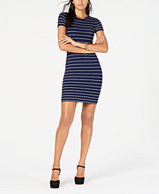 MICHAEL Michael Kors Scalloped-Stripe Sweater Dress