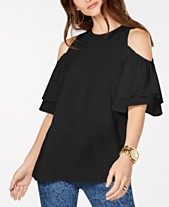 24abd7afbbf530 MICHAEL Michael Kors Ruffled Cold-Shoulder Top