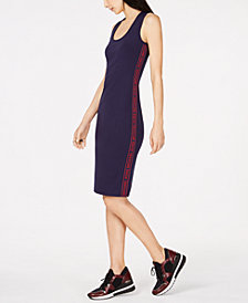 MICHAEL Michael Kors MKGO Logo-Stripe Dress, Regular & Petite Sizes