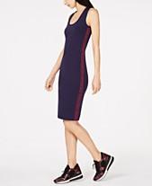 53070cca65a MICHAEL Michael Kors MKGO Logo-Stripe Dress