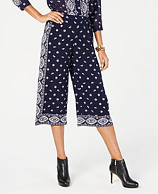 MICHAEL Michael Kors Printed Cropped Pants, In Regular & Petite Sizes