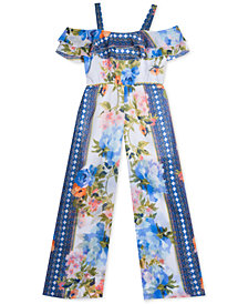 Rare Editions Big Girls Printed Jumpsuit