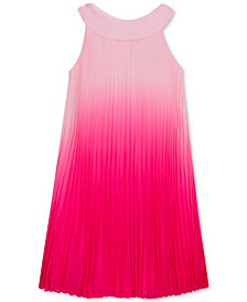 Rare Editions Big Girls Pleated Ombré Chiffon Dress
