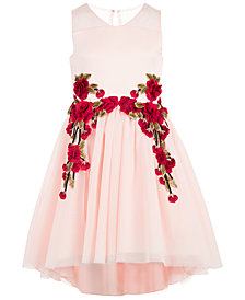 Nanette Lepore Rose Appliqué Party Dress, Big Girls (7-16)